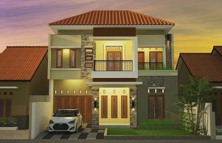 Model Rumah Minimalis 2 Lantai Tampak Depan Jasa Maju Ananta